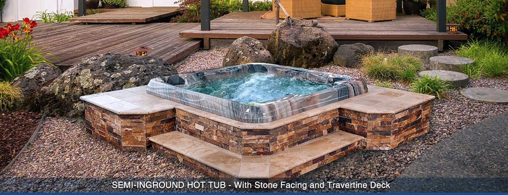 Creative spa designs premier inground spa portable hot tubs spa and swim - Jacuzzi semi enterre ...